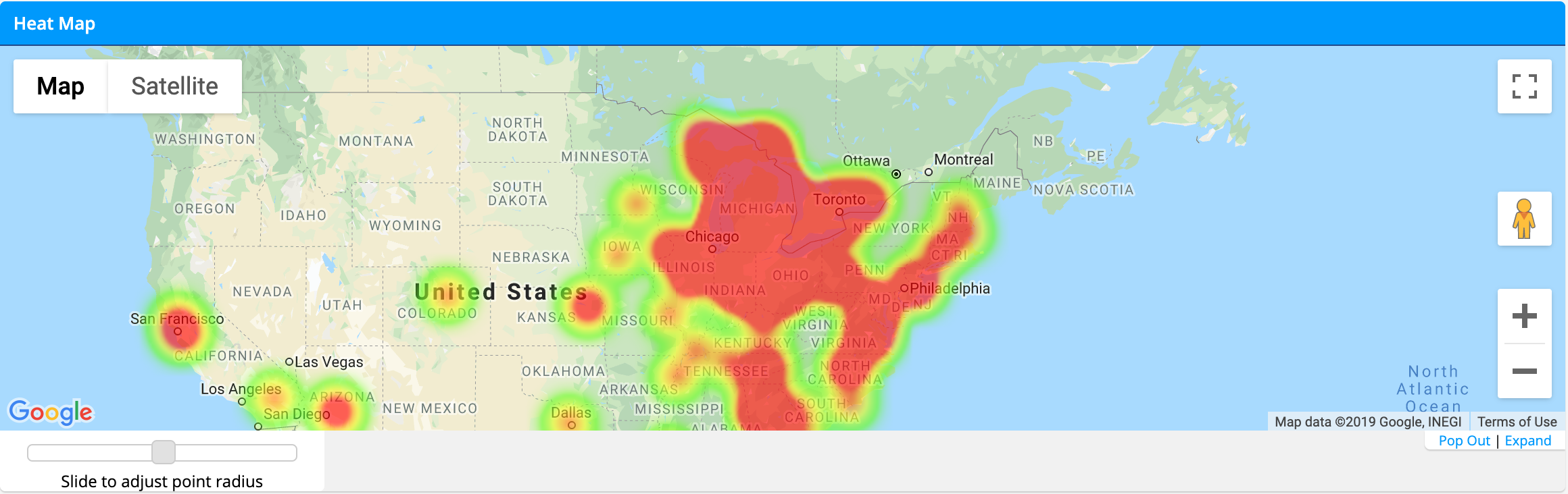 How can I make use of the heat map? – How can we help you? Chicago Heat Map on